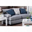 Furniture of America Mirella Transitional Loveseat in Gray