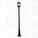Z-Lite Portland 1 Light Outdoor Post Light in Black