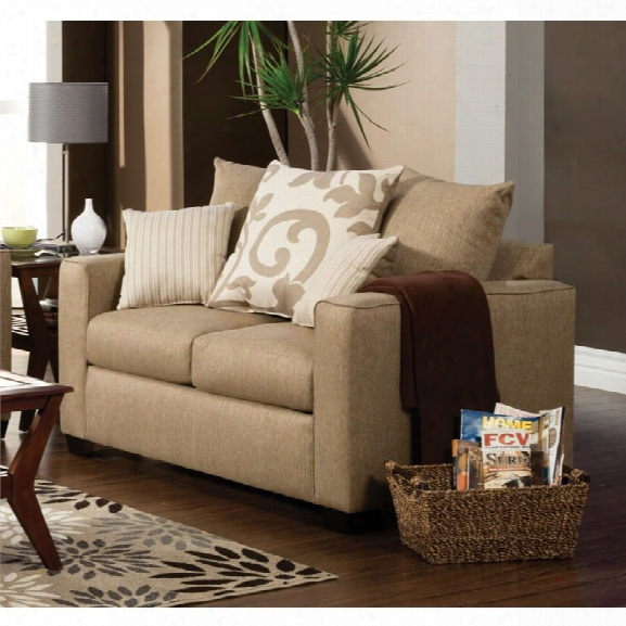 Furniture Of America Shor Fabric Upholstered Loveseat  In Beige