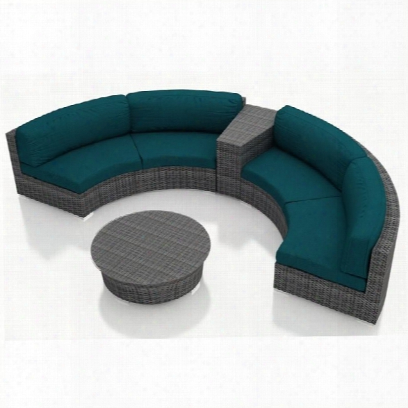 Harmonia Living District 4 Piece Patio Conversation Set In Peacock