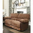 Furniture of America Bernard Chenille Reclining Loveseat in Brown