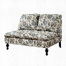 Furniture of America Maggie Fabric Upholstered Loveseat in Floral