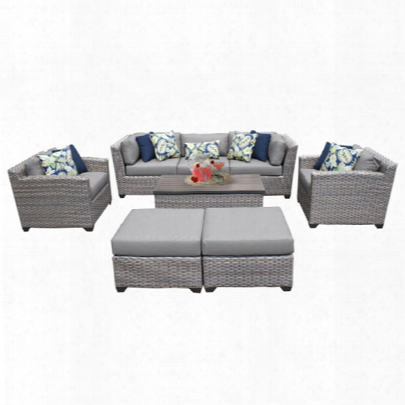 Tkc Florence 8 Piece Patio Wicker Sofa Set