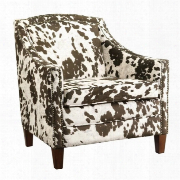 Coaster Cow Pattern Accent Chair In Brown