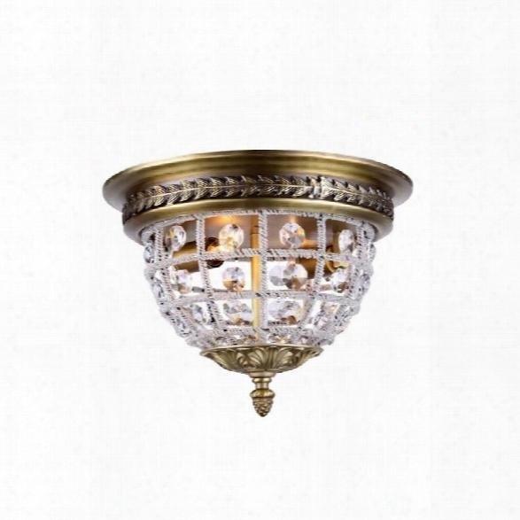 Elegant Lighting Olivia 12 2 Light Royal Crystal Flush Mount
