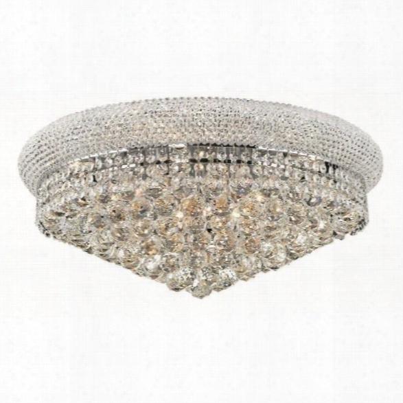 Elegant Lighting Primo 24 12 Light Elements Crystal Flush Mount