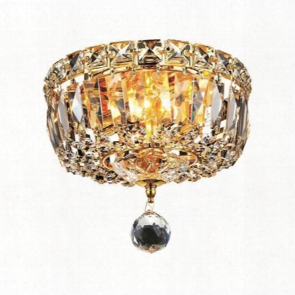 Elegant Lighting Tranquil 8 2 Light Elements Crystal Flush Mount