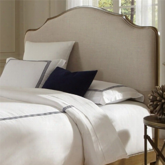 Fashion Bed Calvados Upholstered King Metal Headboard In Natural Oak