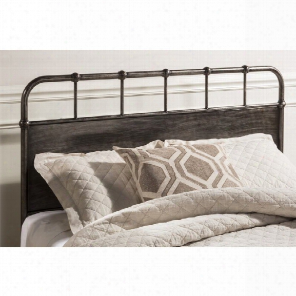 Hillsdale Grayson King Panel Headboard In Rubbed Black