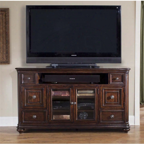 Liberty Furniture Kingston Tv Stand In Hand Rubbed Cognac