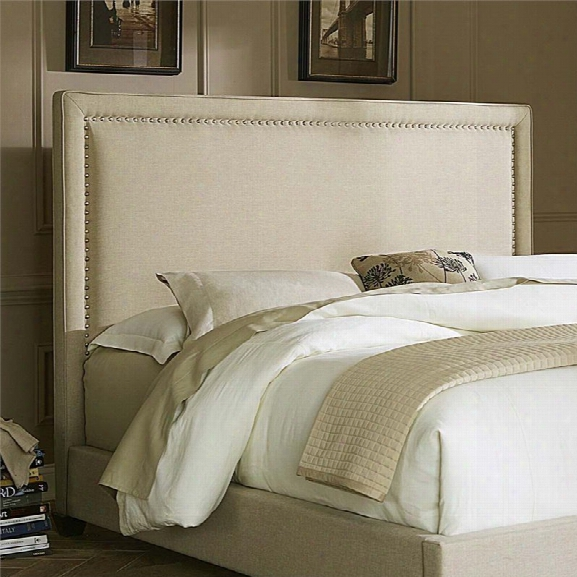 Liberty Furniture Linen Upholstered King Panel Headboard In Natural