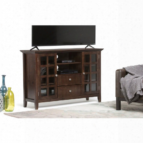 Simpli Home Acadian 53 Tall Tv Stand In Tobacco Brown