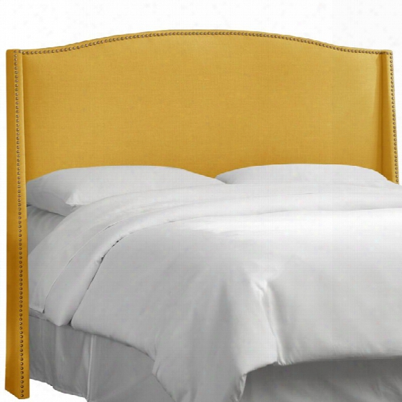 Skyline Furniture Upholstered King Headboard Inlinen French Yellow