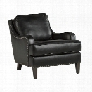 Ashley Laylanne Faux Leather Accent Chair in Black