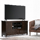 Simpli Home Carlton 54 TV Stand in Tobacco Brown