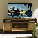 Tommy Bahama Twin Palms Sea Crest TV Stand in Brown