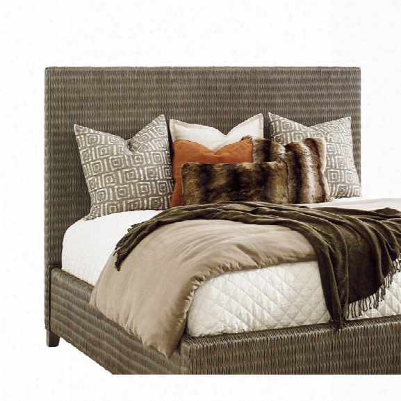 Tommy Bahama Cypress Point King Woven Headboard In Gray