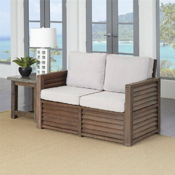 Home Styles Barnside Patio Loveseat And End Table In Aged Barnside