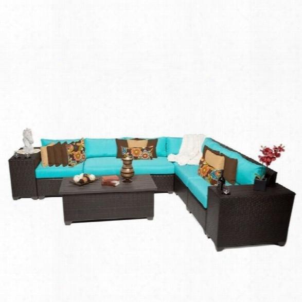 Tkc Barbados 9 Piece Outdoor Wicker Sofa Set In Aruba