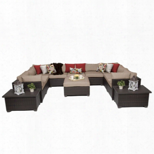 Tkc Belle 12 Piece Patio Wicker Sofa Set