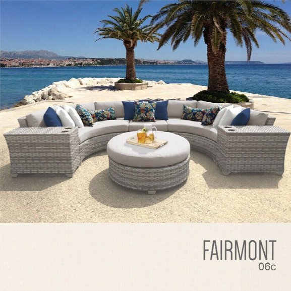 Tkc Fairmont 6 Piece Patio Wicker Sectional Set
