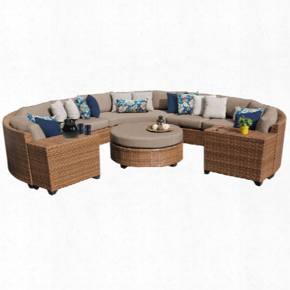 Tkc Laguna 8 Piece Patio Wicker Sectional Set
