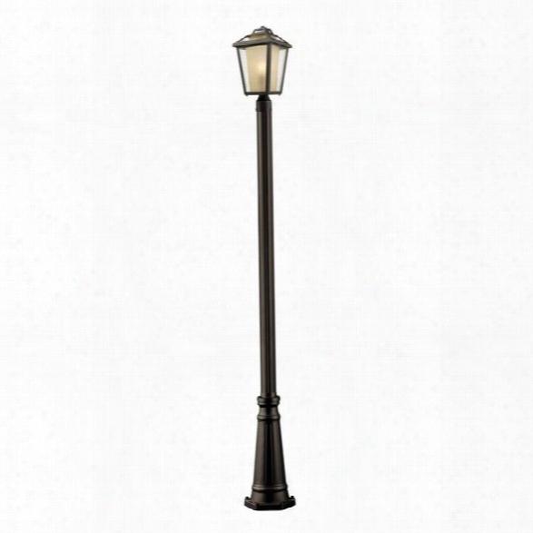 Z-lite Memphis 1 Light Outdoor Post Light In Oil Rubbed Bronze