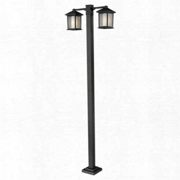 Z-lite Mesa 2 Head Outdoor Post In Oil Rubbed Bronze