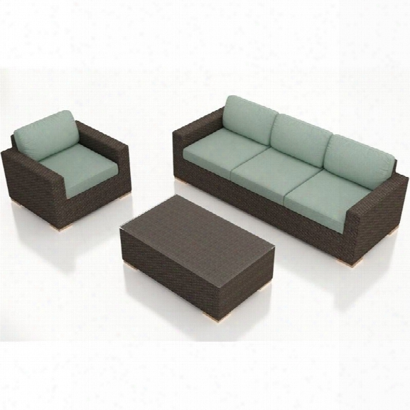 Harmonia Livingarden 3 Piece Patio Sofa Set In Canvas Spa