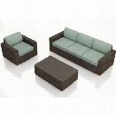 Harmonia Living Arden 3 Piece Patio Sofa Set in Canvas Spa