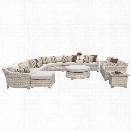 TKC Fairmont 12 Piece Patio Wicker Sofa Set in Beige