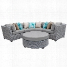 TKC Florence 4 Piece Patio Wicker Sectional Set
