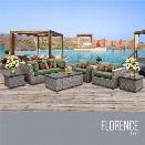 TKC Florence 7 Piece Patio Wicker Sofa Set in Green