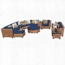 TKC Laguna 12 Piece Patio Wicker Sofa Set in Navy