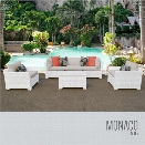 TKC Monaco 6 Piece Patio Wicker Sofa Set in Beige
