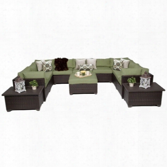 Tkc Belle 12 Piece Outdoor Wicker Sofa Set In Cilantro