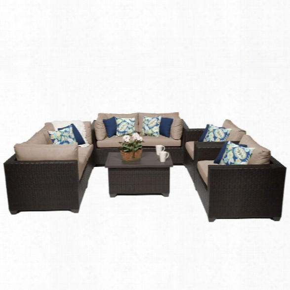 Tkc Belle 7 Piece Patio Wicker Sofa Set