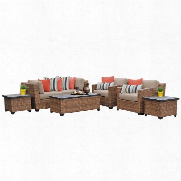 Tkc Laguna 7 Piece Patio Wicker Sofa Set