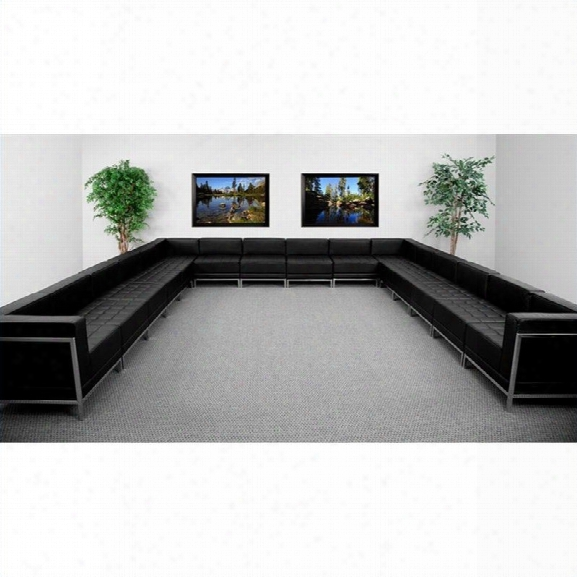 Flash Furniture Hercules Imagination Sseries 16-piece Sectional Configuration In Black