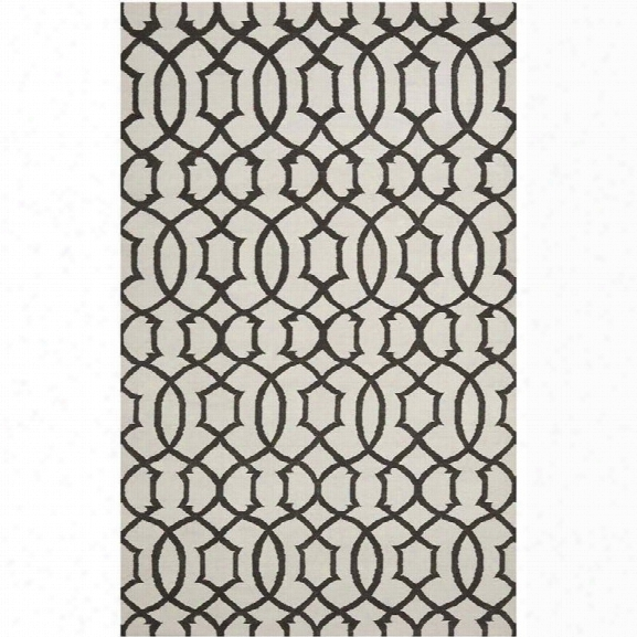Safavieh Dhurries Ivory Contemporary Rug - 9' X 12'