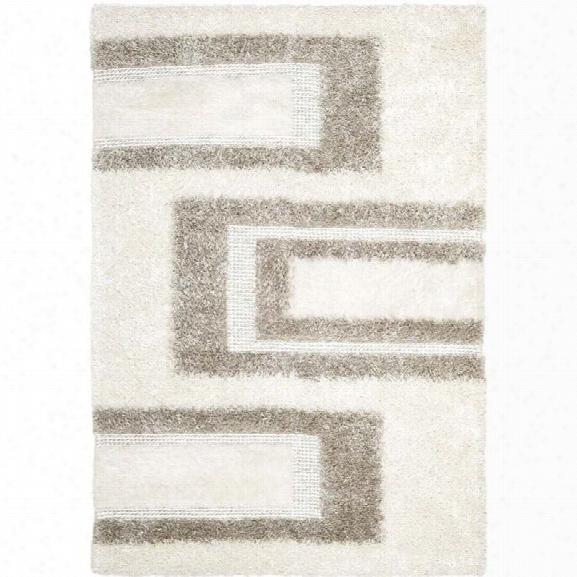 Safavieh Manhattan White Shag Rug - 8' X 10'