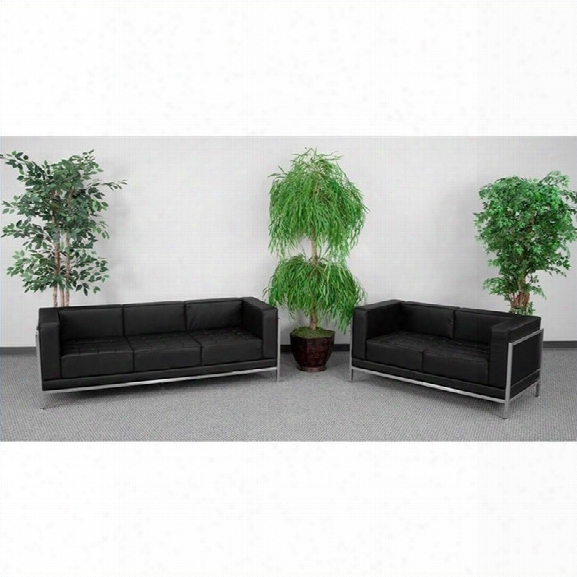 Flash Furniture Hercules Imagination Sofa And Love Seat Set In Black