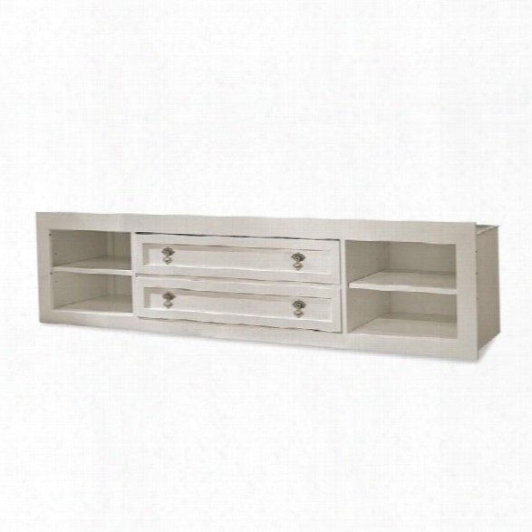 Smartstuff Genevieve Storage Unit With Side Rail Panel In French White