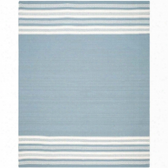 Safavieh Dhurries Turquoise Contemporary Rug - 8' X 10'