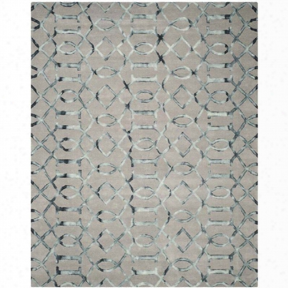 Safavieh Dip Dyed Grey Contemporary Rug - 9' X 12'