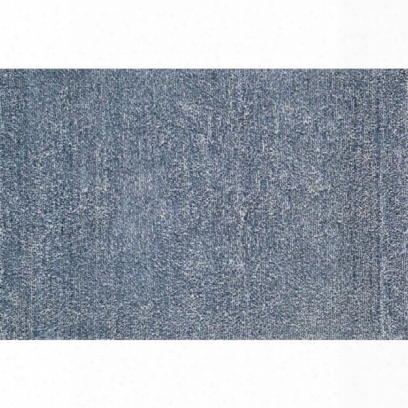 Loloi Happy 9'3 X 13' Hand Tufted Shag Rug In Denim