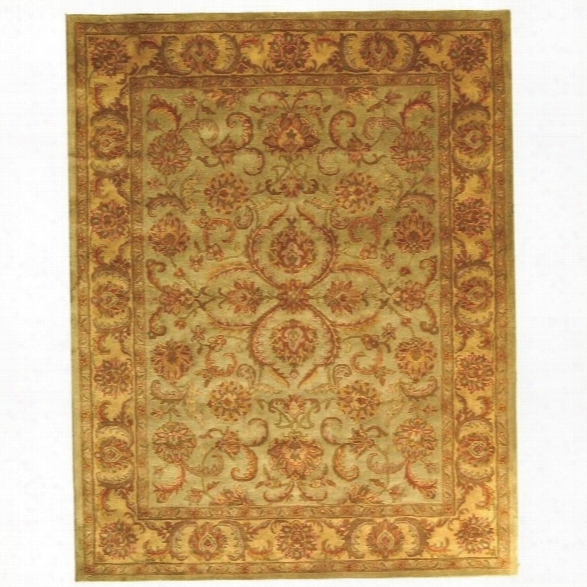 Safavieh Heritage Green Traditional Rug - 11' X 15'