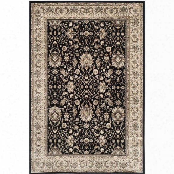 Safavieh Persian Garden Black Traditional Rug - 8' X 11'