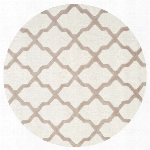 Safavieh Cambridge Ivory Transitional Rug - Round 10'