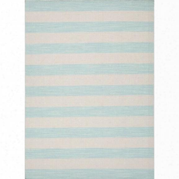 Jaipur Rugs Pura Vida 8' X 10' Flat Weave Wool Rug In Blue And Ivory